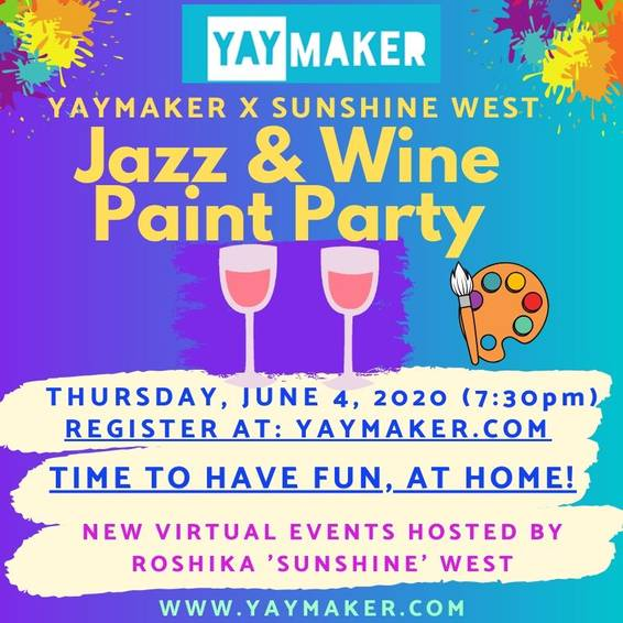 A Paint Nite Jazz  Wine Paint Nite experience project by Yaymaker