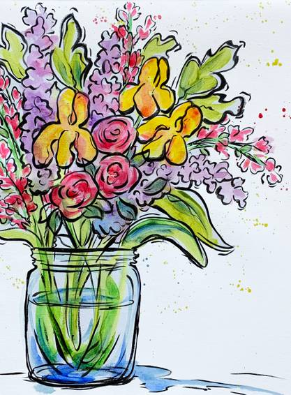 A Flower Bouquet in a Jar experience project by Yaymaker