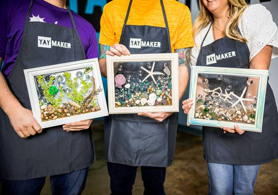 A Bring Your Own Keepsakes Resin Art experience project by Yaymaker