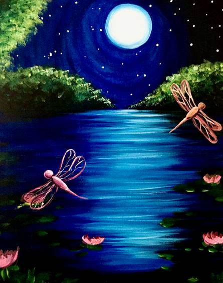 A Moonlit Dragonflies at Night experience project by Yaymaker