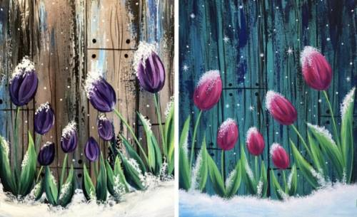 A Frosted Tulips Partner Painting experience project by Yaymaker