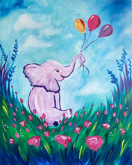 A Baby Elephant Balloons experience project by Yaymaker
