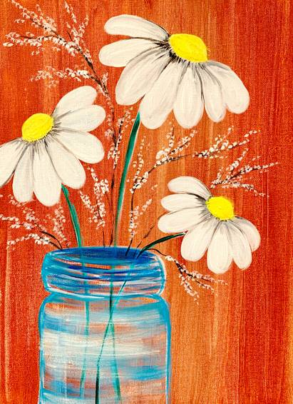 A Mason Jar Daisies experience project by Yaymaker