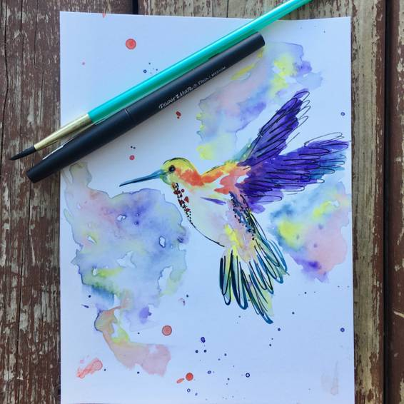 A Watercolour Hummingbird experience project by Yaymaker