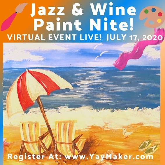 A Jazz  Wine Paint Nite II experience project by Yaymaker