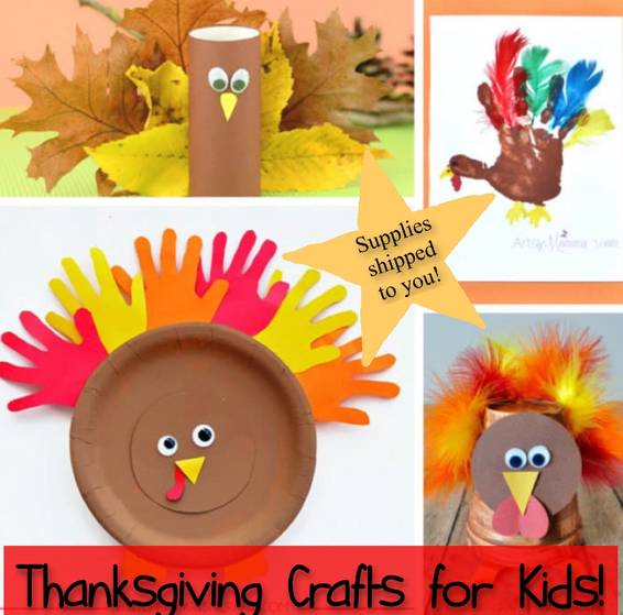 A Thanksgiving Crafts 4 Kids Supplies shipped to you experience project by Yaymaker