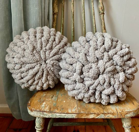 A Chunky Knit Pillows Set of 2 experience project by Yaymaker