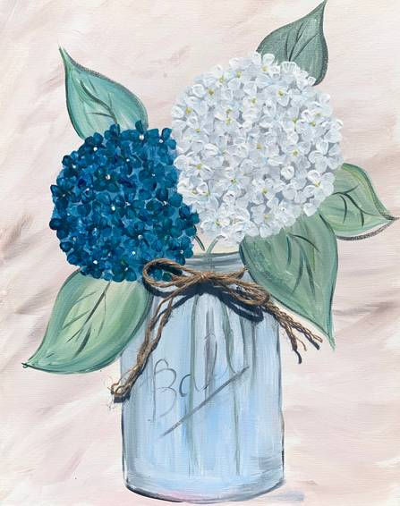 A Hydrangea Love with twine accent experience project by Yaymaker