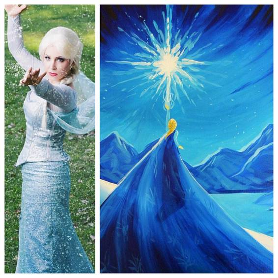 A Paint with a Princess Frozen Elsa Edition experience project by Yaymaker
