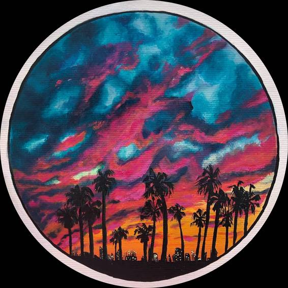 A California Sunset Acrylic Paint Night experience project by Yaymaker