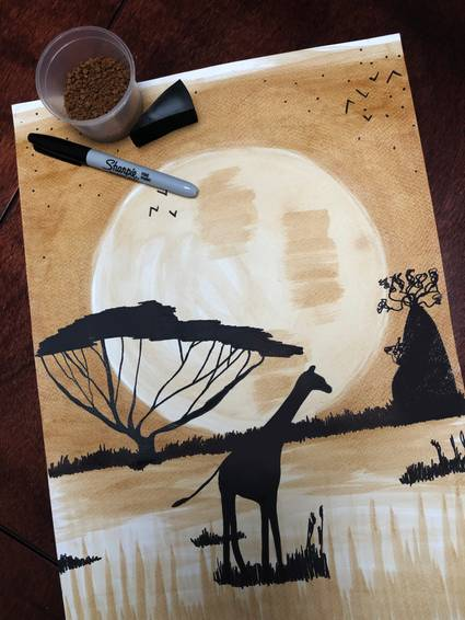A African Blend  Coffee  Sharpie experience project by Yaymaker