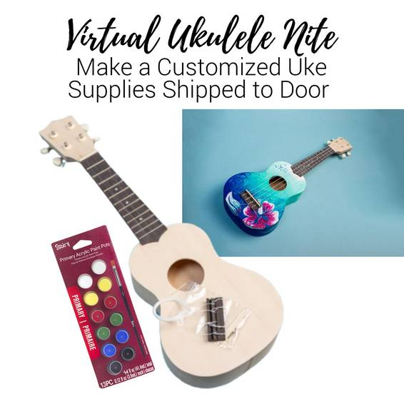 A Virtual Ukulele Nite Customize Your Uke Supplies Shipped to Door experience project by Yaymaker