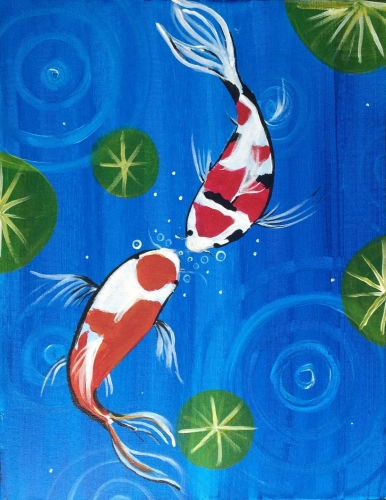 A Koi Fish II paint nite project by Yaymaker