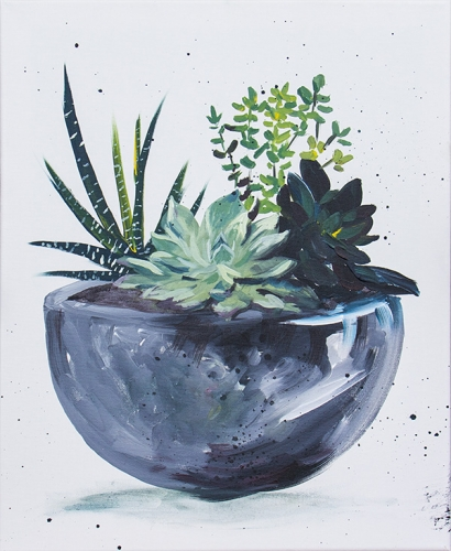 A Simple Succulents paint nite project by Yaymaker