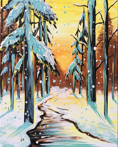 A Teal Winter paint nite project by Yaymaker