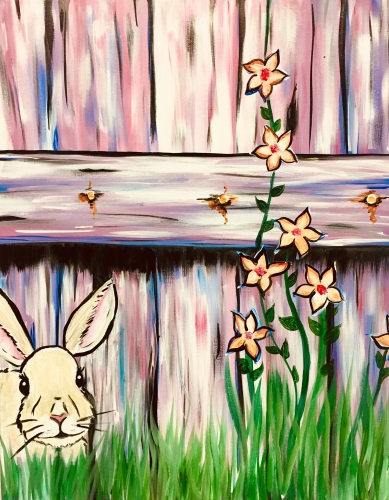 A Blossom Bunny paint nite project by Yaymaker