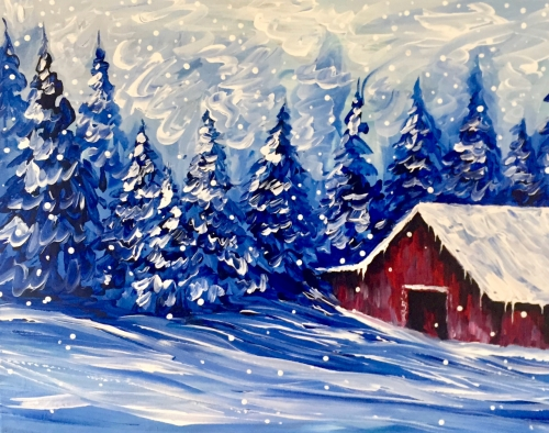 A A Northern Winter paint nite project by Yaymaker