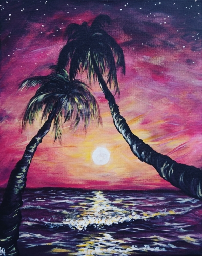 A Moonlit Paradise paint nite project by Yaymaker