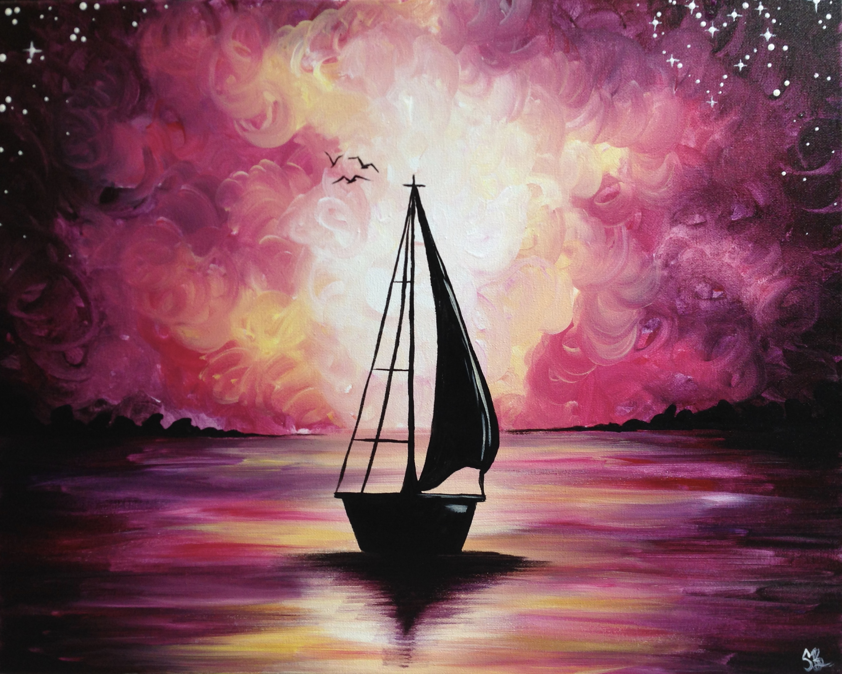 A Sail Away With Me II paint nite project by Yaymaker
