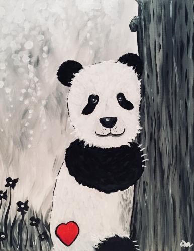 A Sweet Panda paint nite project by Yaymaker