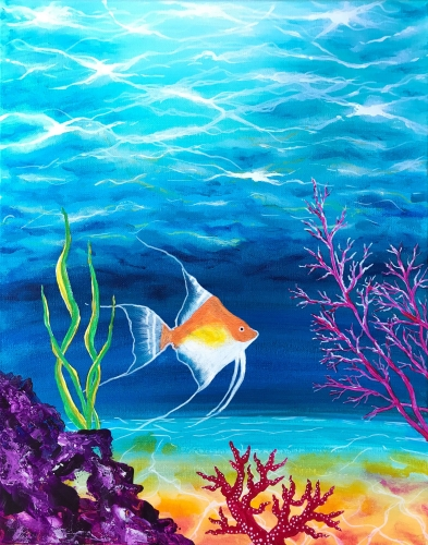 A On The Ocean Floor paint nite project by Yaymaker