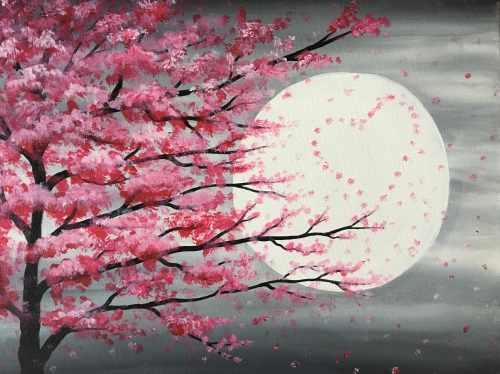 A Love Tree in Moonlight paint nite project by Yaymaker