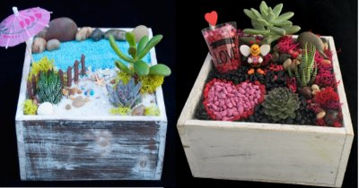 A Beach or Be Mine Planter plant nite project by Yaymaker