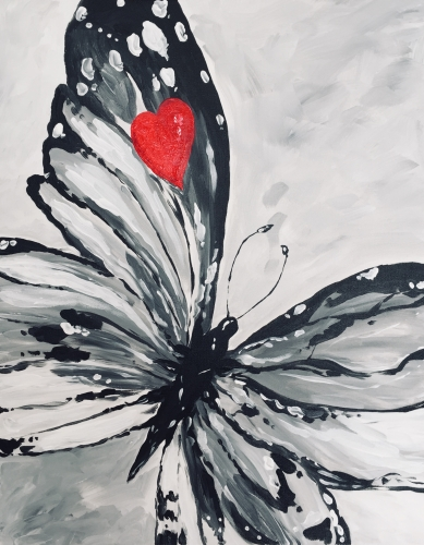 A Sweet Butterfly paint nite project by Yaymaker