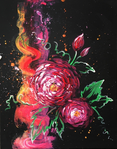 A Abstract Roses paint nite project by Yaymaker