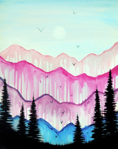 A For Love of Mountains paint nite project by Yaymaker