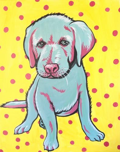 A Paint Your Pet Pop Art paint nite project by Yaymaker