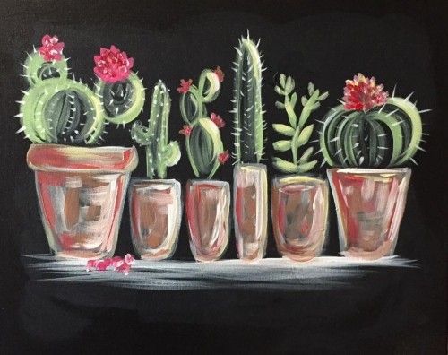 A Cactus Collection II paint nite project by Yaymaker