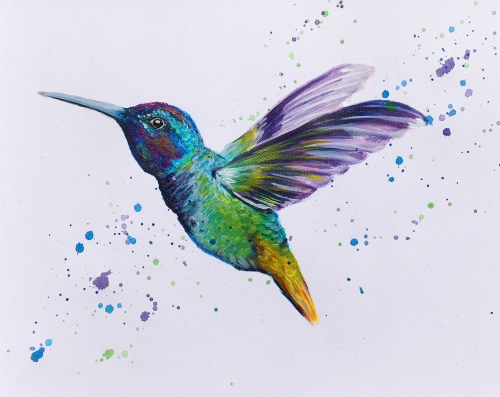 A Hummingbird Takes Flight paint nite project by Yaymaker