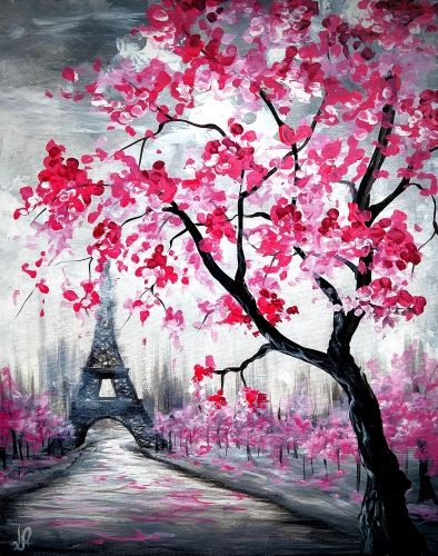 A Blossoms in Paris V paint nite project by Yaymaker