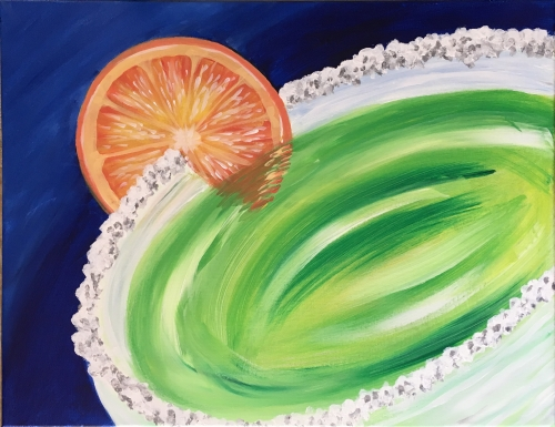 A Tropical Margarita paint nite project by Yaymaker