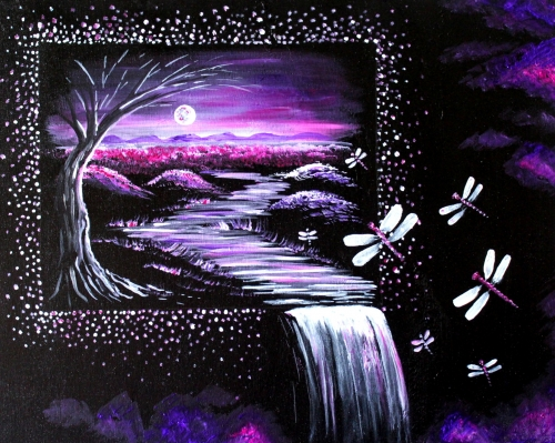 A Dragonfly Dreams III paint nite project by Yaymaker