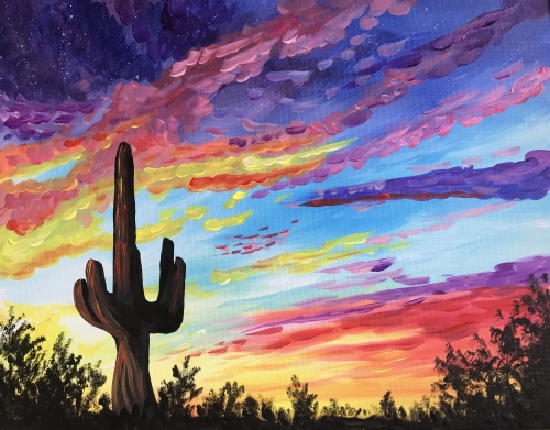 A Mystic Desert paint nite project by Yaymaker