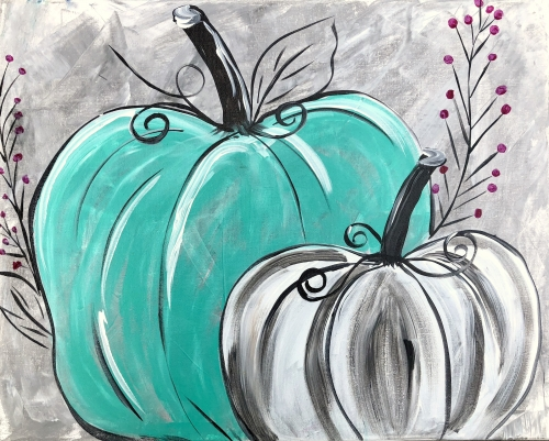 A Teal Pumpkin Patch paint nite project by Yaymaker