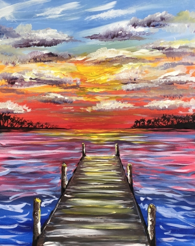 A Paradise Dock paint nite project by Yaymaker