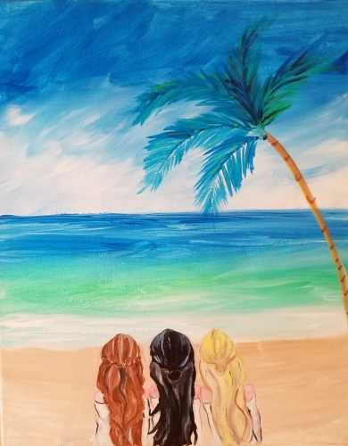A Beach Session paint nite project by Yaymaker