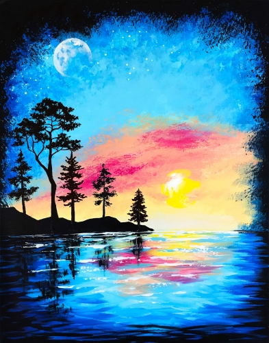 A Moonrise Dawn paint nite project by Yaymaker