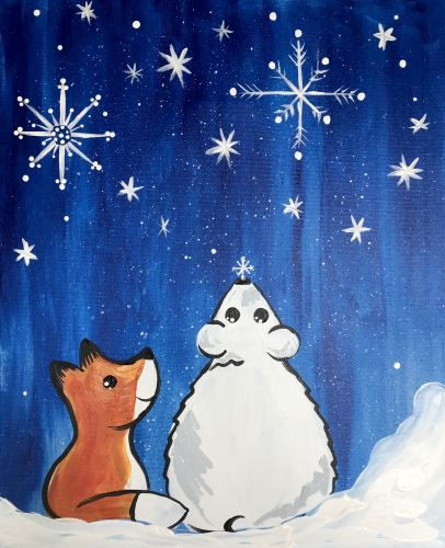 A Friends First Snow paint nite project by Yaymaker