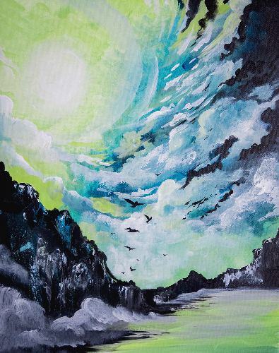 A Flying Free After The Storm paint nite project by Yaymaker