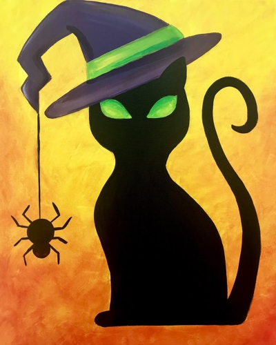 A Witch Kitty paint nite project by Yaymaker