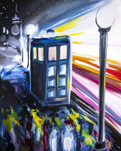 A Through Time And Space paint nite project by Yaymaker