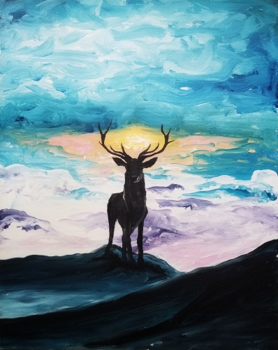 A Majestic in the Mountains paint nite project by Yaymaker