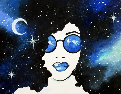 A Galaxy Gal II paint nite project by Yaymaker