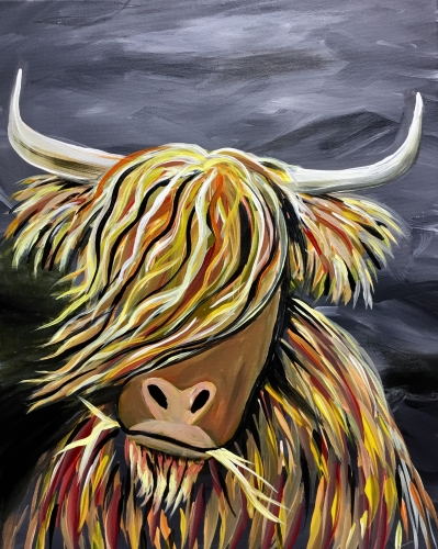 A Hamish the Heeland Coo paint nite project by Yaymaker