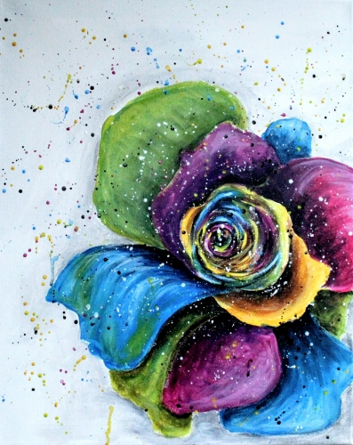 A Colorful Rose II paint nite project by Yaymaker