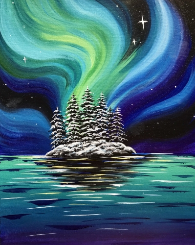 A Aurora Island paint nite project by Yaymaker